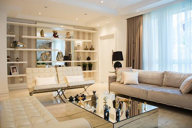 osvětlený obývák
